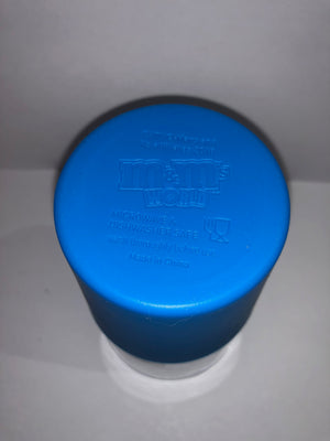 M&M's World Blue Silicone Sleeve Pint Glass New