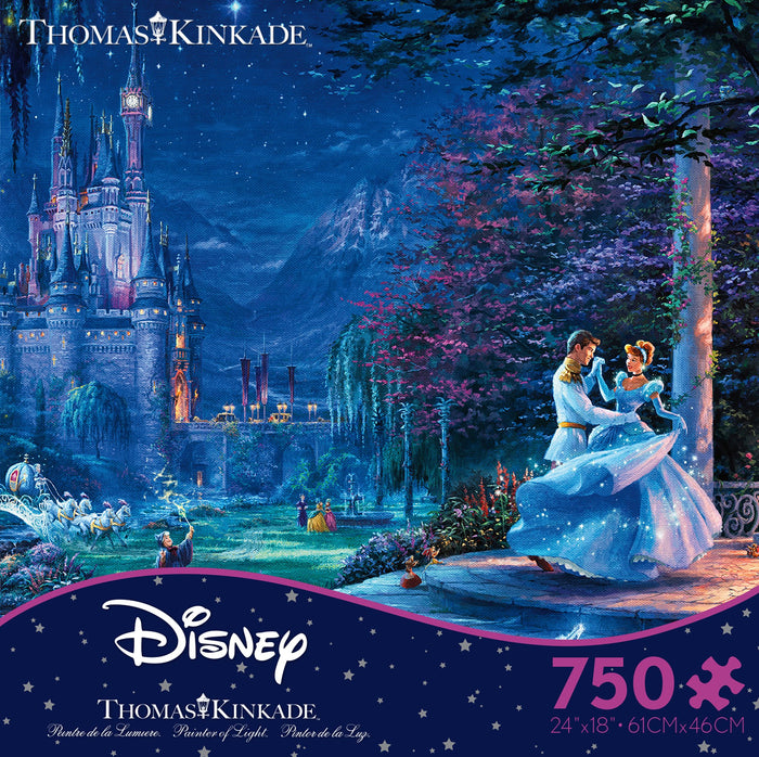 Disney Cinderella Dancing in Front Of Her Castle 750 Pcs Puzzle Thomas Kindade