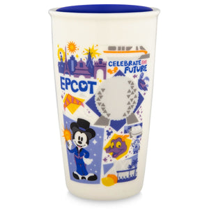 Disney Starbucks Epcot Attractions Figment Coffee Tumbler Travel Mug New