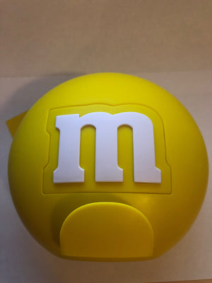M&M's World Candy Yellow Round Dispenser New with Tags