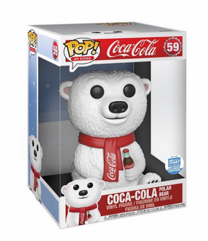 Funko POP Ad Icons: Coca-Cola Polar Bear 10-inch Funko Pop Vinyl New With Box