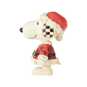 Jim Shore Peanuts Mini Snoopy Santa Christmas Figurine New with Box