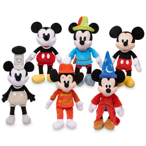 Disney Mickey The True Original Plush Set Mickey Through the Years Small New