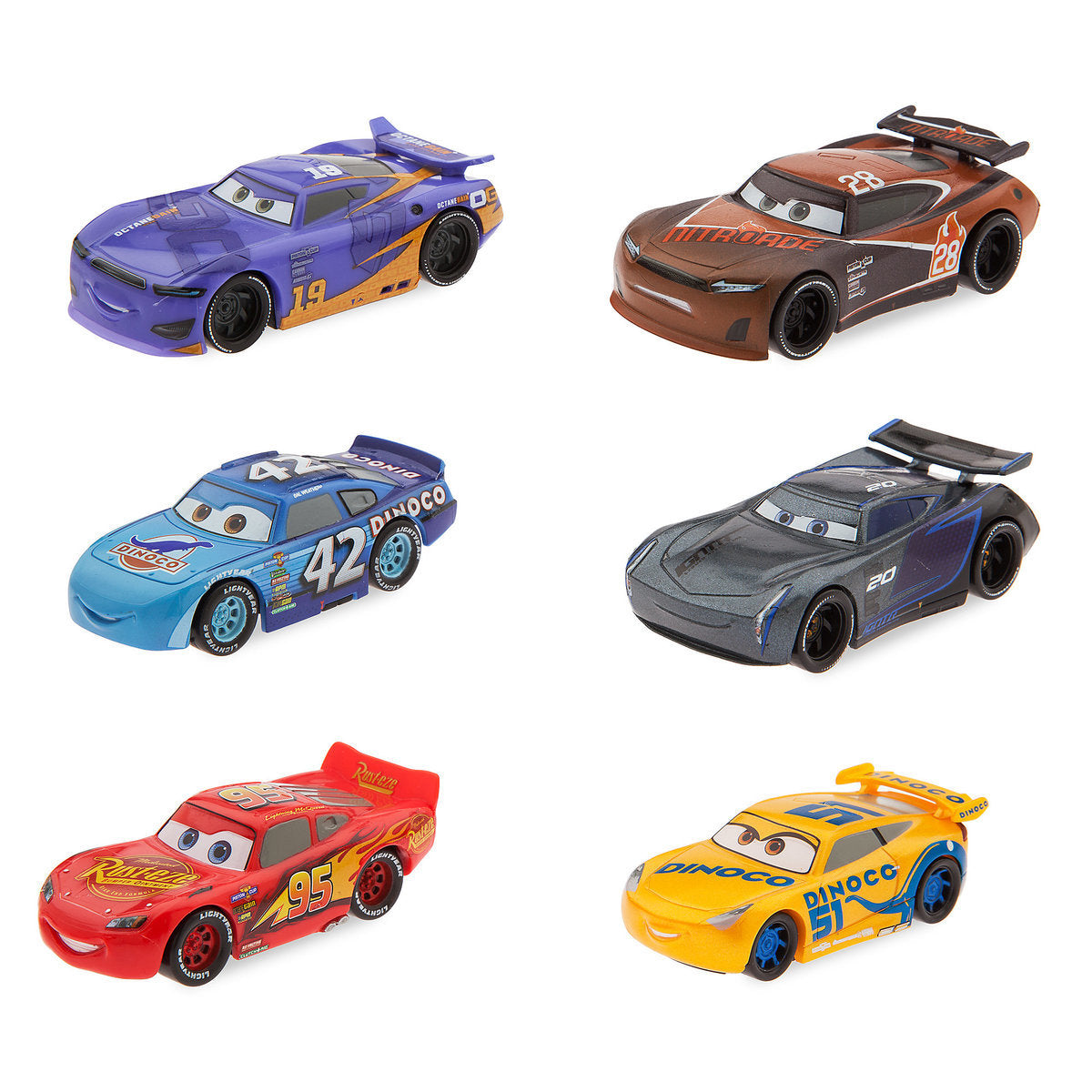 Disney Store Cars 3 Figure Play Set Cake Topper Playset 6 Pieces New