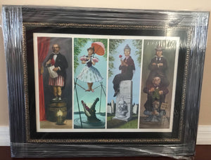 Disney Haunted Mansion Stretching Portraits Giclee on Canvas Framed New with Box
