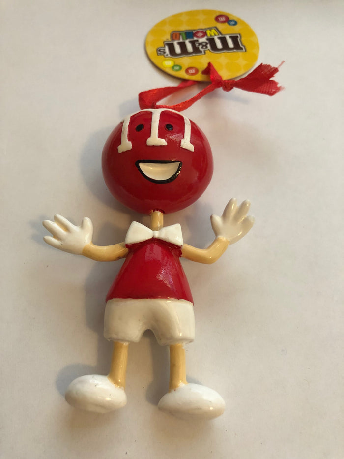 M&M's World Retro Red 75th Anniversary Christmas Ornament New with Tags