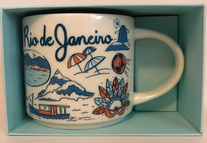 Starbucks Been There Series Collection Rio De Janeiro Brazil Ceramic Coffee Mug