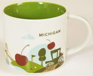 Starbucks You Are Here Michigan Ceramic Coffee Mug New with Box