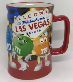 M&M's World Welcome to Fabulous Las Vegas Sign Heritage Coffee Mug New