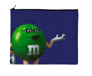 M&M's World Green Character I Simply do as i Please Darling Recycled Pouch New