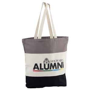 Universal Studios Harry Potter Hogwarts Alumni Cotton Canvas Tote New with Tags