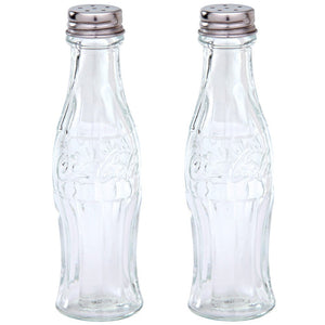 Disney Parks Coca Cola Coke Bottle Glass Salt & Pepper Shakers New with Box
