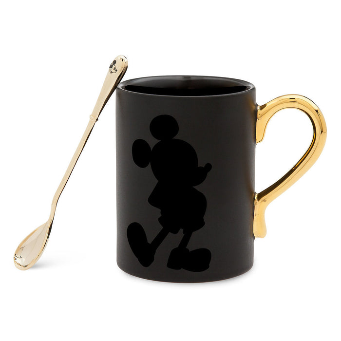 Disney Mickey The True Original Gold Collection Coffee Mug and Spoon Set New
