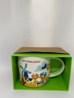 Starbucks You Are Here Netherlands Ceramic Coffee Mug New with Box