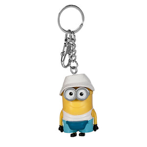 Universal Studios Despicable Me Minion Jerry with Bucket Hat Keychain New w Tag