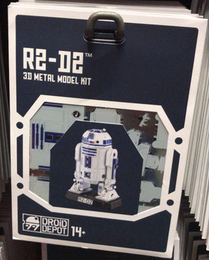 Disney Parks Star Wars R2-D2 Droid Factory Metal Model Kit 3D Galaxy Edge New