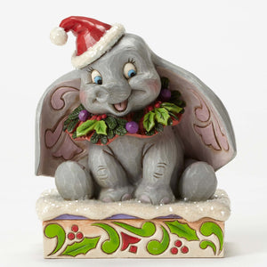 Disney Jim Shore Traditions Winter 75th Dumbo Resin Figurine New with Box