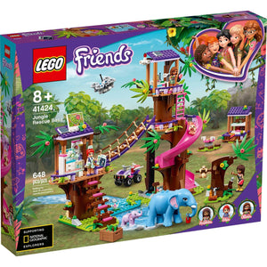 Lego 41424 Friends Jungle Rescue Base Animal Building Kit New with Sealed Box