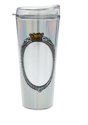 Disney Parks Magic Mirror Metallic Travel Tumbler New