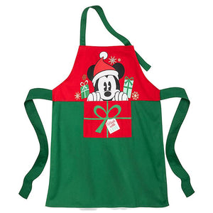Disney Eats Store Mickey and Minnie Mouse Holiday Apron New with Tags