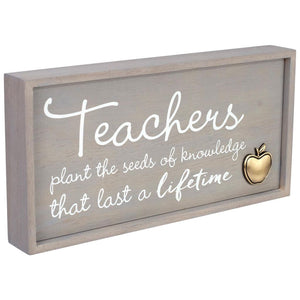 Hallmark Teachers Plant the Seeds Framed Quote Sign New