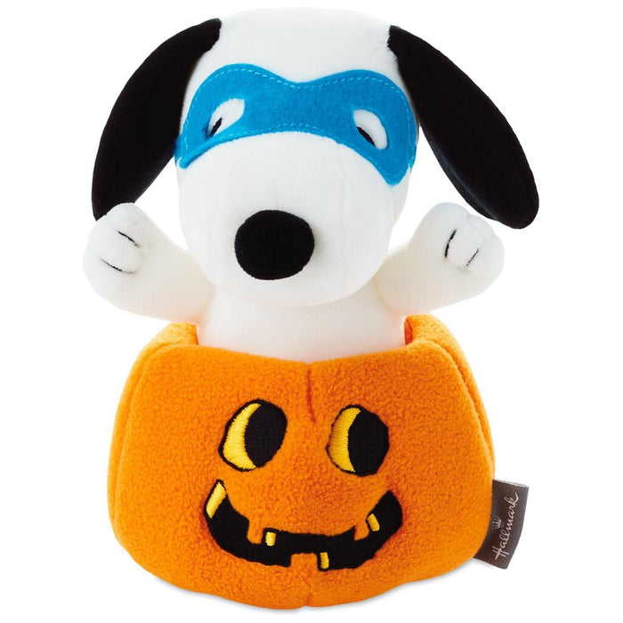 Hallmark Peanuts Ear-Poppin' Halloween Snoopy Stuffed Animal 6.5 inc New