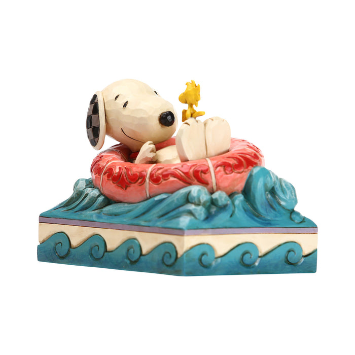 Jim Shore Peanuts Snoopy and Woodstock in Floatie Figurine New with Box