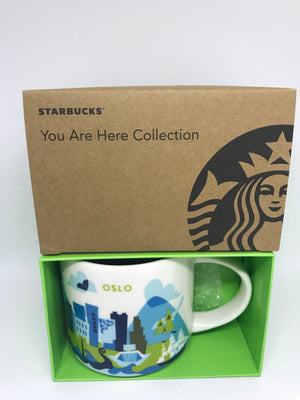 Starbucks You Are Here Collection Oslo Norway Ceramic Coffee Mug New with Box