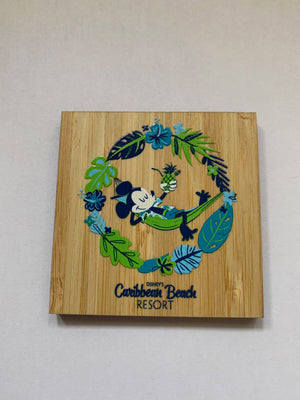 Disney Parks Caribbean Beach Resort Mickey Wood Magnet New