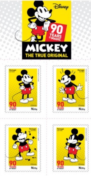 Disney Portugal 2018 90 Years Mickey booklet auto adhesive MNH New