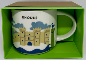 Starbucks You Are Here Rhodes Greece Ceramic Coffee Mug New with Box