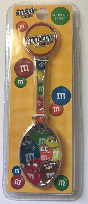 M&M's World Souvenir Spoon Red Orange Brown Green Blue Yellow Characters New