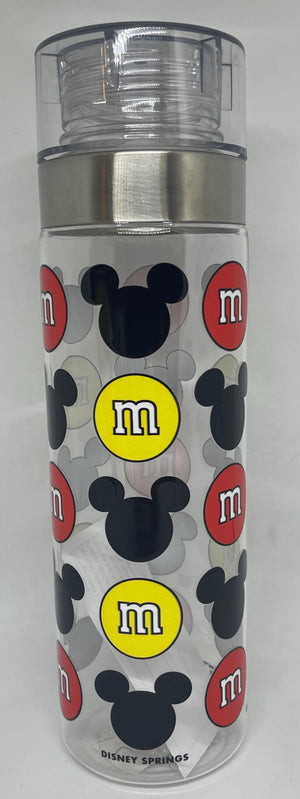 Disney Springs M&M's World Red and Yellow Mickey Icons Bottle New