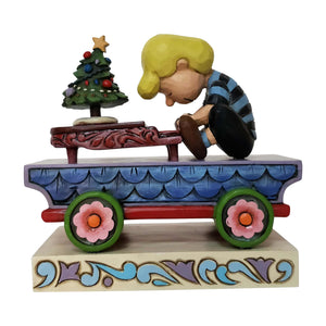 Jim Shore Peanuts Schroeder Train Car Christmas Figurine New with Box