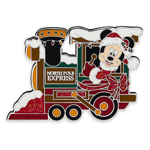 Disney Parks Santa Mickey Mouse Train Locomotive Pin New with Card
