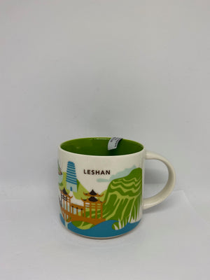 Starbucks You Are Here Collection Leshan China Ceramic Coffee Mug New With Box