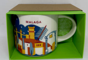 Starbucks You Are Here Collection Malaga Spain Ceramic Coffee Mug New Box