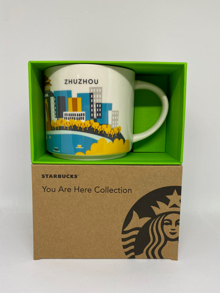 Starbucks You Are Here Collection Zhuzhou China Ceramic Coffee Mug New With Box