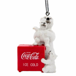 Authentic Coca Cola Coke Polar Ice Locker Christmas Ornament New with Tags