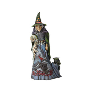 Jim Shore Halloween Witch with Skull Resin Figurine New with Box