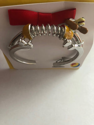 Disney Parks Collection Jewelry Toy Story Slinky Dog Cuff Bracelet New with Bag