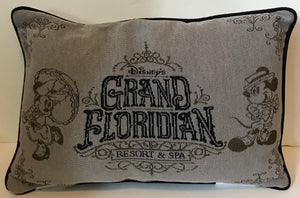 Disney Parks Mickey Minnie Grand Floridian Resort and Spa Pillow New with Tag