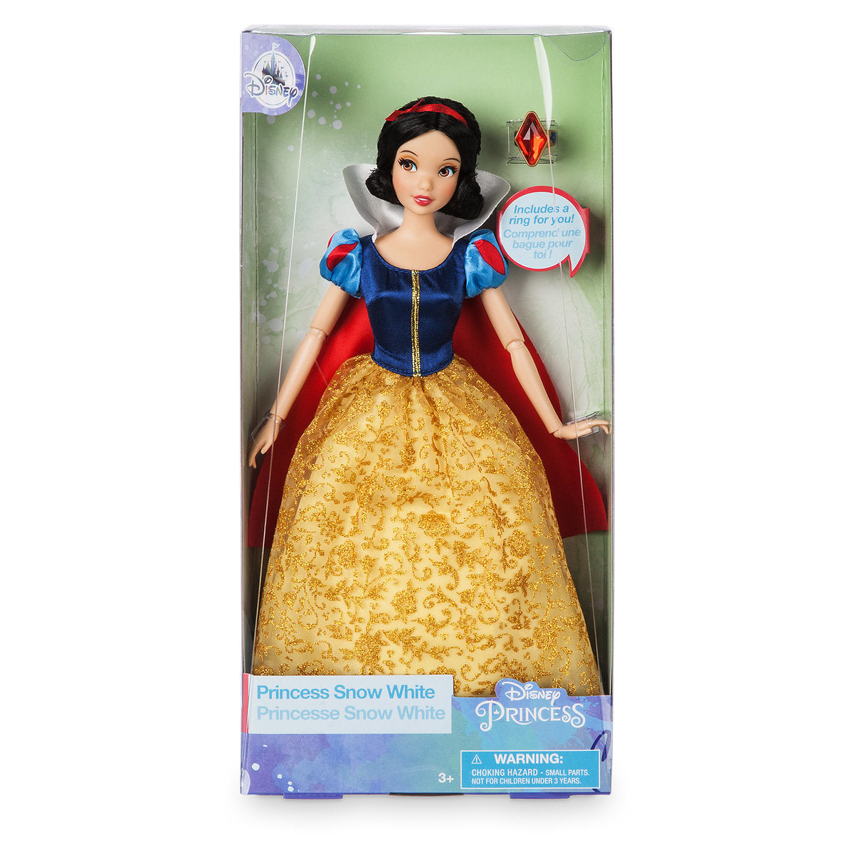 Disney Princess Snow White Classic Doll With Ring New With