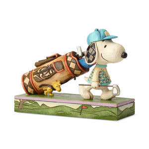 Peanuts Golf Snoopy & Woodstock Jim Shore Figurine New with Box