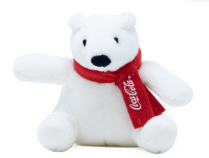 Authentic Coca-Cola Coke Polar Bear with Scarf Plush Magnet New with Tag