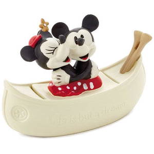 Hallmark Mickey and Minnie in Boat Porcelain Trinket Box New with Box