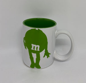 M&M's World Green Silhouette I Simply Do As I Please Darling Coffee Mug New