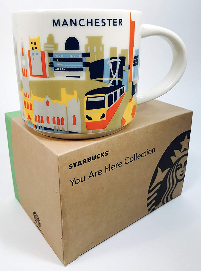 Starbucks You Are Here Manchester Ceramic Coffee Mug New with Box
