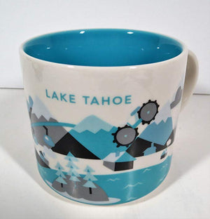 Starbucks You Are Here Lake Tahoe California Ceramic Coffee Mug New with Box