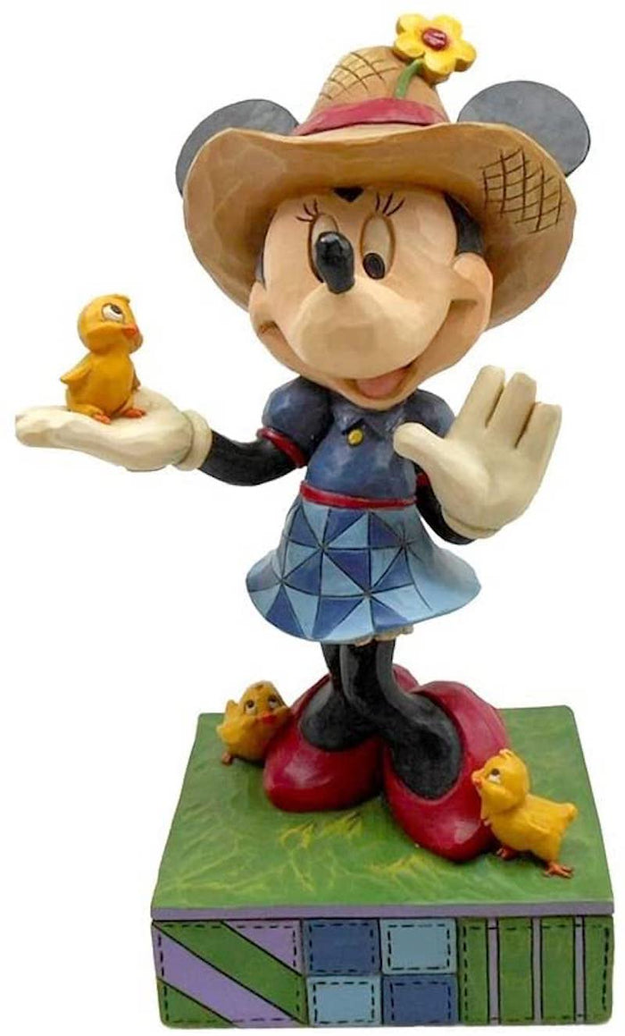 Disney Jim Shore Traditions Minnie Mouse Farmer Figurine New with Box